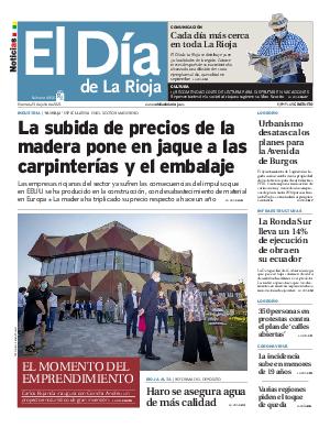 Portada El Dia de la Rioja